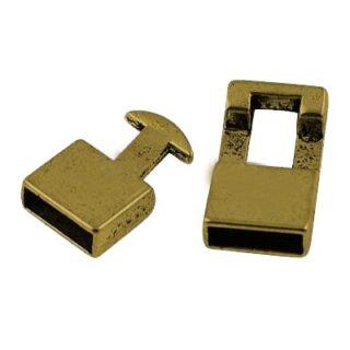 Leer sluitingen goud goudkleurig 10mm koord leren armbanden sluiting slotje