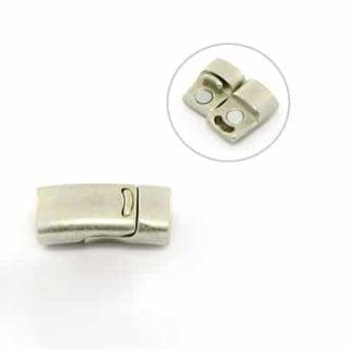 Magneetsluiting leer koord 10mm magneetsluitingen armband zilver nikkelvrij