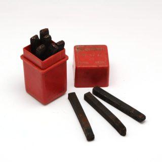 Slagcijfers slagstempels voor echt leer armband sleutelhanger