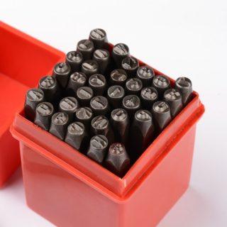 Slagstempels & slagcijfers 36 stuks voor leer en metaal slagletters symbolen