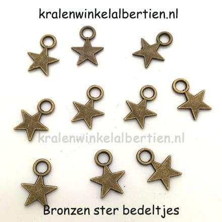 Sterretje bedel bronzen nikkelvrij loodvrij armbandjes met naam maken