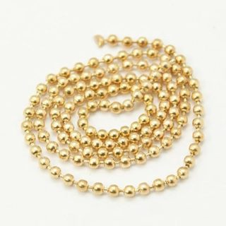 Ball ketting goud 1.5mm bal chains ketting goudkleurig diameter 1.5mm sluitingen bolletjes ketting