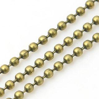 Bolletjes ketting brons 1.5mm antiek bronzen ballchains chains kettingen bal nikkelvrij