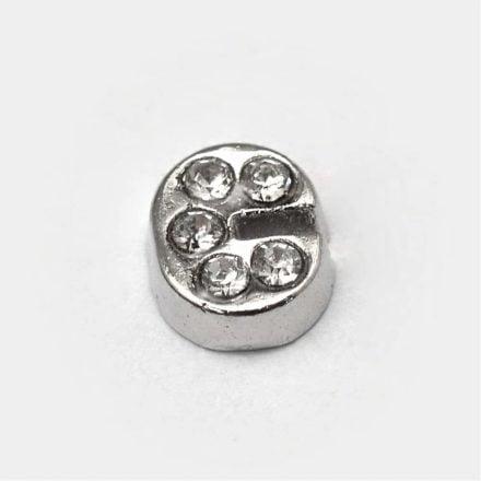 Cacochon bedel zilver strass c