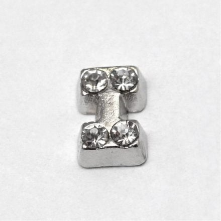 Cacochon bedel zilver strass i