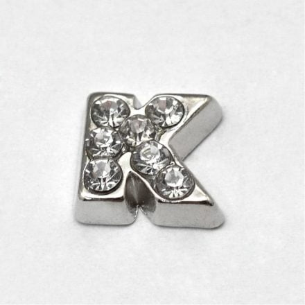 Cacochon bedel zilver strass k