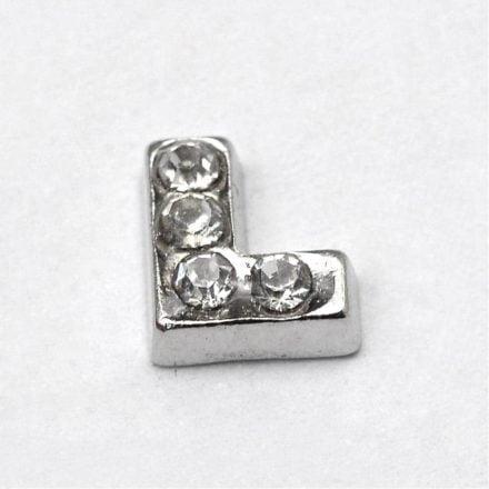 Cacochon bedel zilver strass
