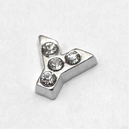 Cacochon bedel zilver strass Y