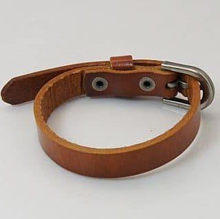 Leren armband bruin echt leer armbanden goedkope online kopen heren vrouwen