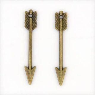 Bronzen pijl bedeltje sieraden maken