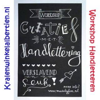 Workshop handletteren workshops handlettering leren aan huis Friesland groningen drenthe overijssel drachten Heerenveen jubbega wolvega