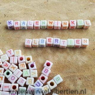 Gekleurde letterkralen mix alfabet kralen goedkope gekleurde kralen