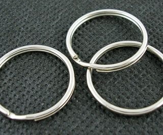 Sleutelring 25mm sleutelringen ring sleutel dubbel loop goedkoop kopen sleutelhangers