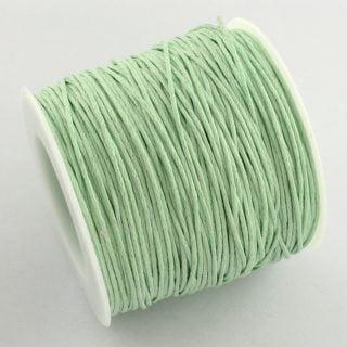 1mm waxkoord op rol pale groen groothandel verpakking rolletje katoen katoen wax koord rijg rijgkoord goedkoop