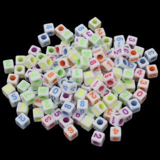 Cijferkraaltjes vierkant gekleurd