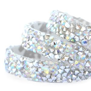 Crystal diamond tape 10mm Silver-diamond