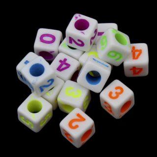 Gekleurde cijferkraaltjes vierkant