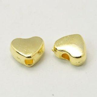 Gouden hartjes kralen klein