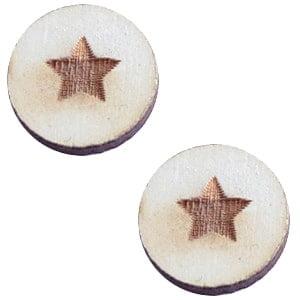 Grijze cabochon star grey 12mm