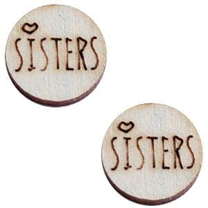 outen cabochon grijs sisters