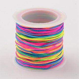 Nylon koord op rol gekleurd 1mm regenboog