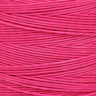 Polyester plat waxkoord roze 1mm