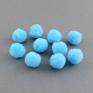 Pomponnetje 10mm lichtblauw pompom