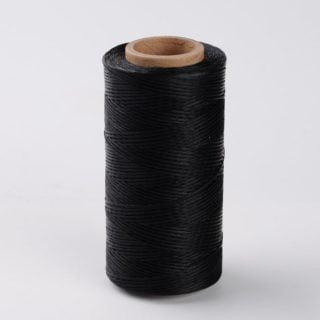 waxkoord zwart 1mm plat dun polyester