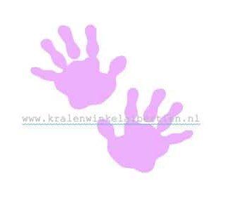 Strijkapplicaties handjes baby roze