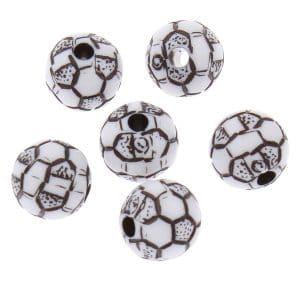 Voetbal kralen zwart wit