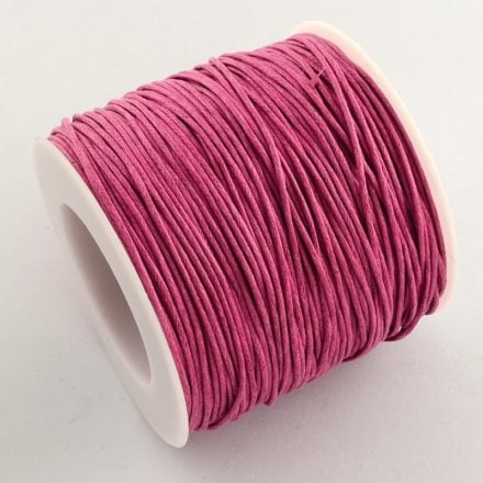 Waxkoord op rol 1mm roze rolletje wax koord rijgkoord rijg sterk groothandel verpakking goedkoop