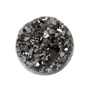 Cabochon 12mm druzy zilver