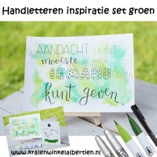 Handletteren inspiratie set groen