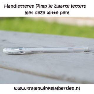 Handletteren witte pen