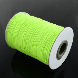 Neon waxkoord polyester groen