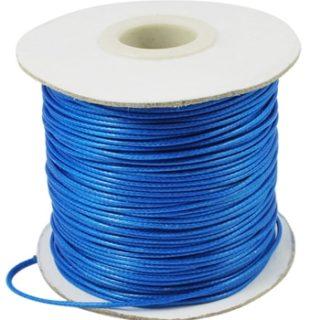 Polyester waxkoord blauw