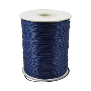 Donkerblauw polyester waxkoord