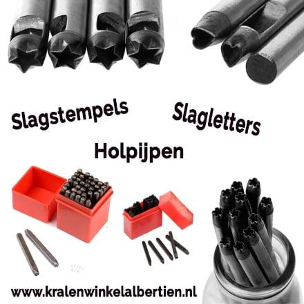 Wonderbaarlijk Slagletters, Slagstempels & holpijpen - Kralenwinkel Albertien GV-92