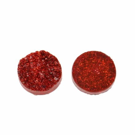 cabochon 12mm druzy donkerrood