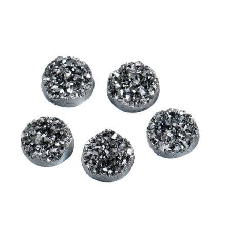 druzy cabochon zilver crystal