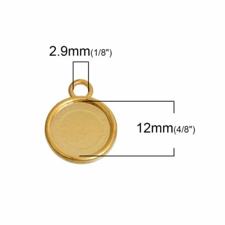 12mm cabochon setting rond