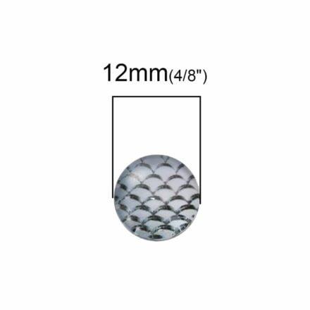 12mm cabochons grijs