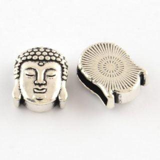 Boeddha schuifkraal zilver