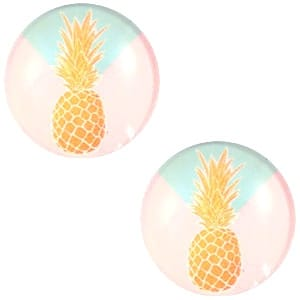 Cabochon basic pineapple 20mm
