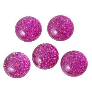 Cabochon glitter roze
