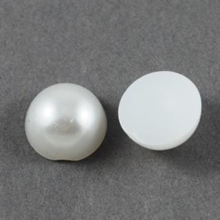 Cabochon parels wit 12mm