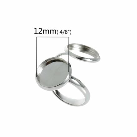 Cabochon ring12mm setting