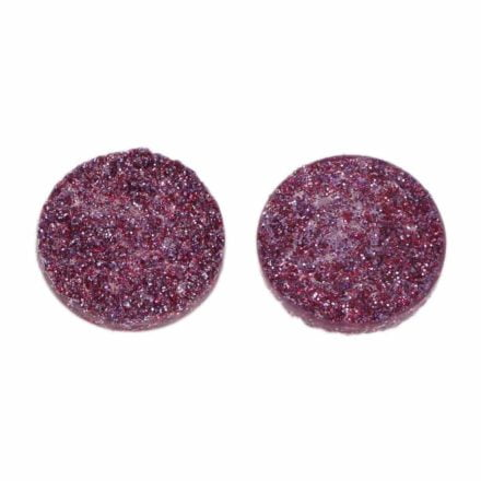 Cabochon rond 12mm paars
