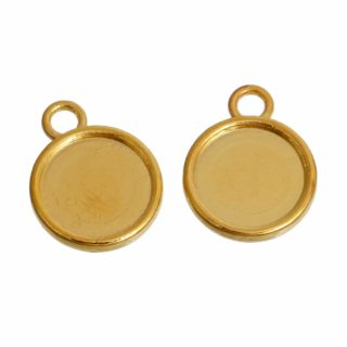 Cabochon setting goud rond