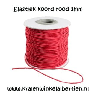Elastiek koord rood 1mm